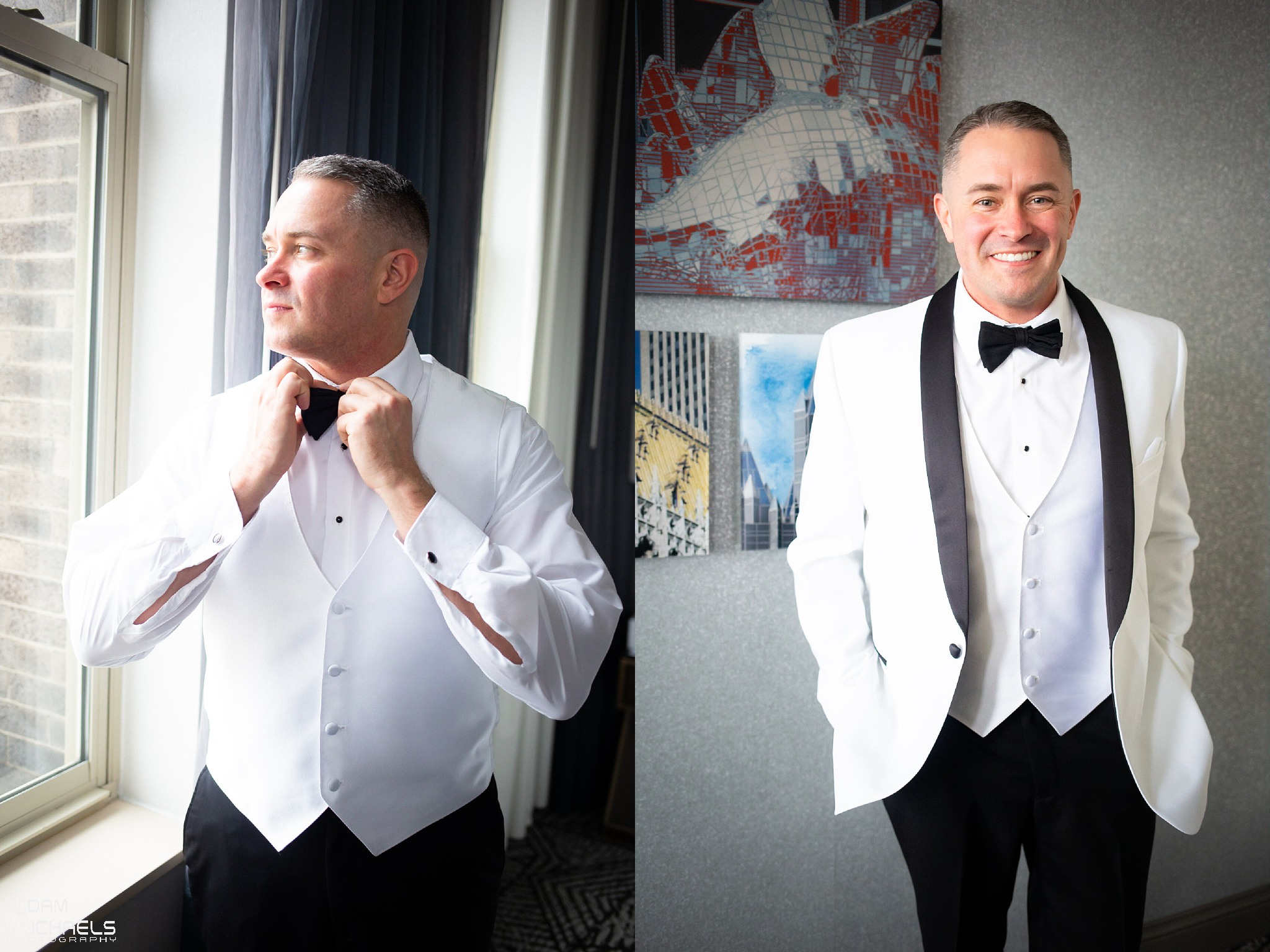 Pittsburgh Renaissance Hotel Wedding Groom Getting Ready_2884.jpg