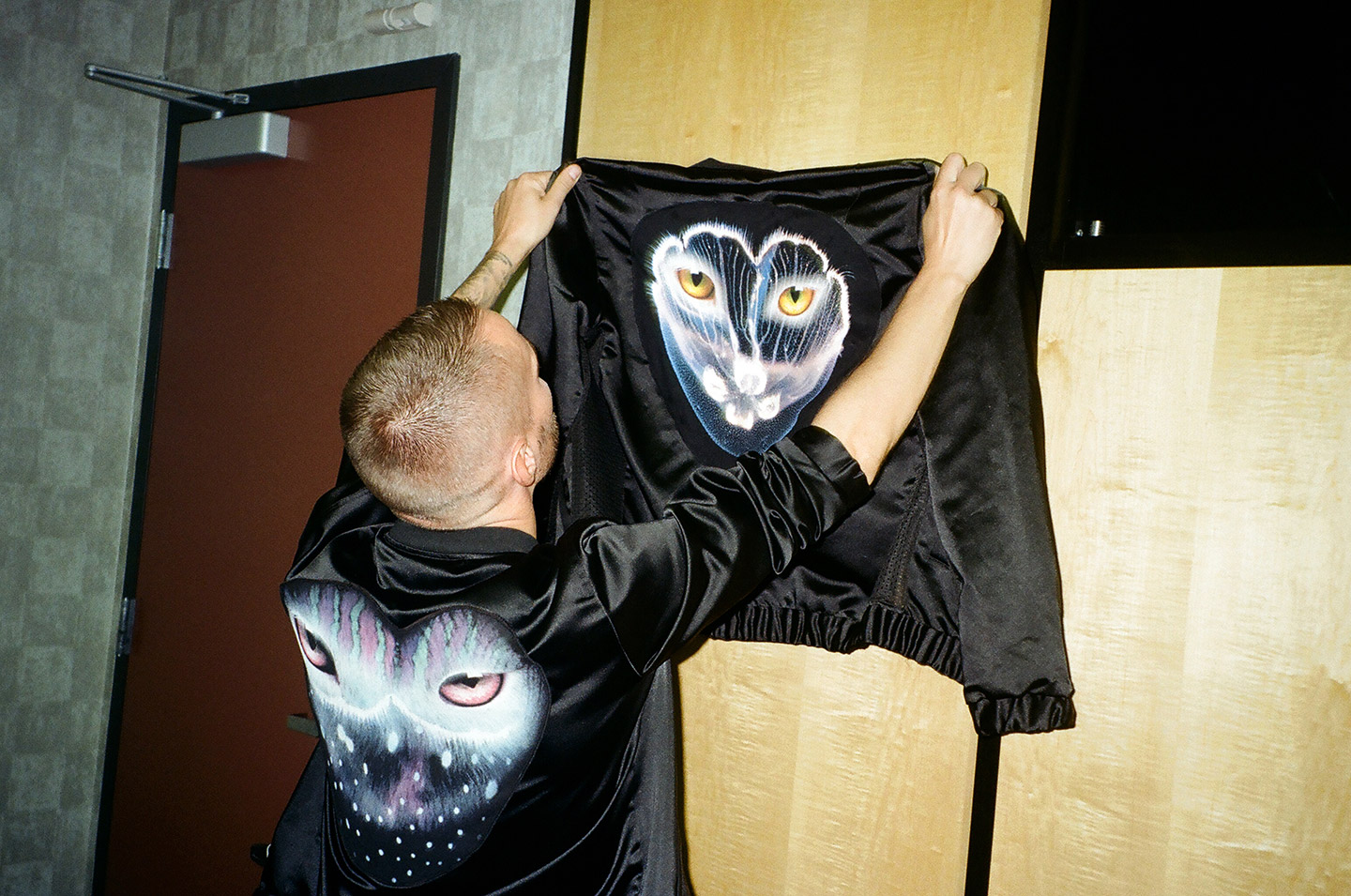 Christian Karlsson of Galantis. Behind the scenes of the music video by mosss