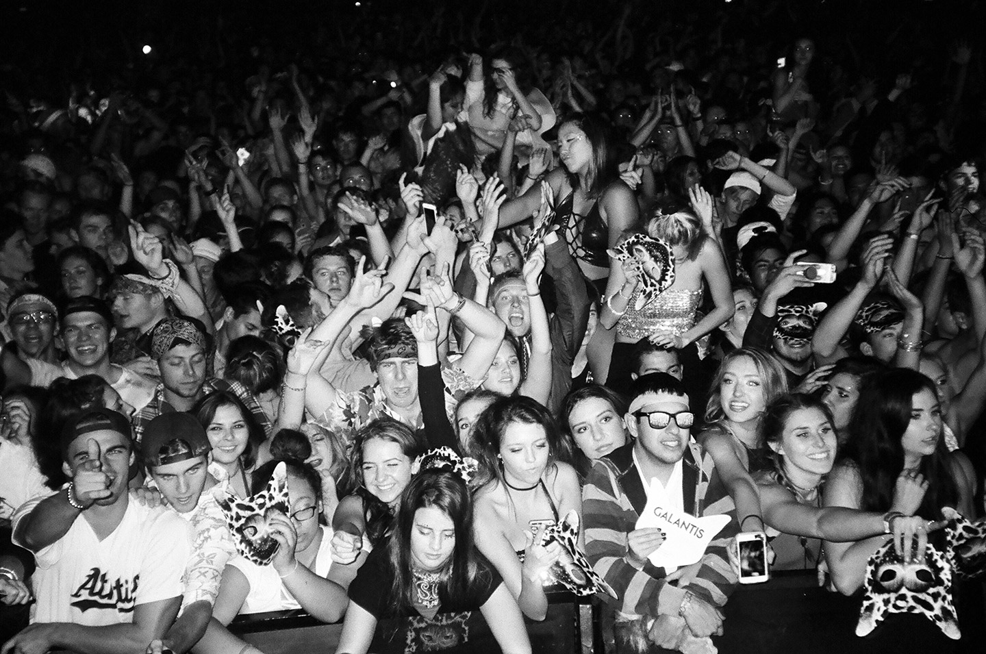 Crowd shot of Galantis fans. Behind the scenes of Galantis - Pillow Fight music video by mosss