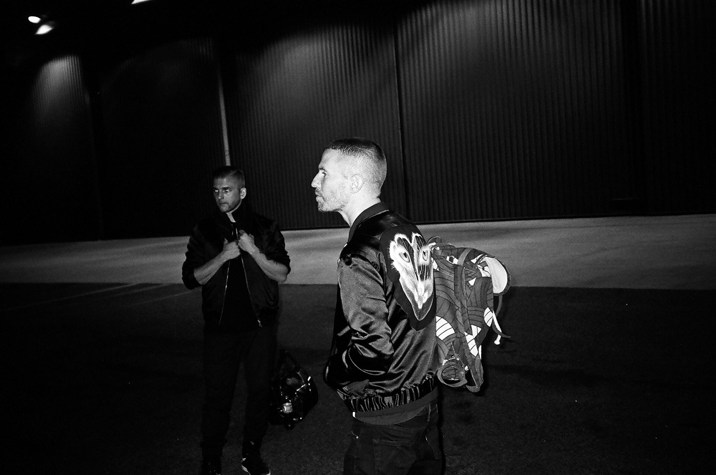 Christian Karlsson and Linus Eklöw of Galantis. Behind the scenes of the music video by mosss