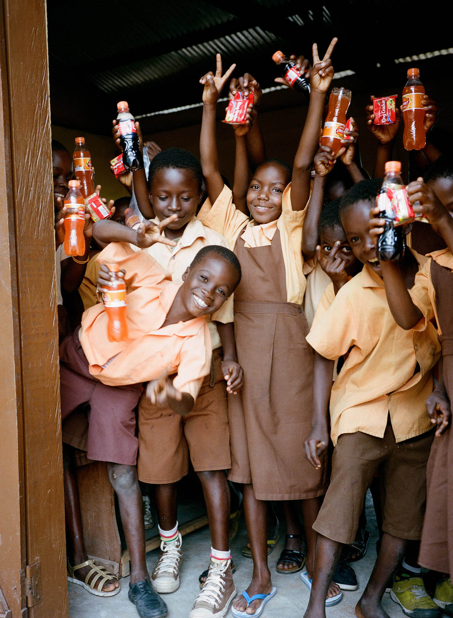 The radiant students in Ghana really taught us to slow down and simplify—that it doesn't take a lot to find contentment in life. A poignant reminder for the rest of us in the West. -