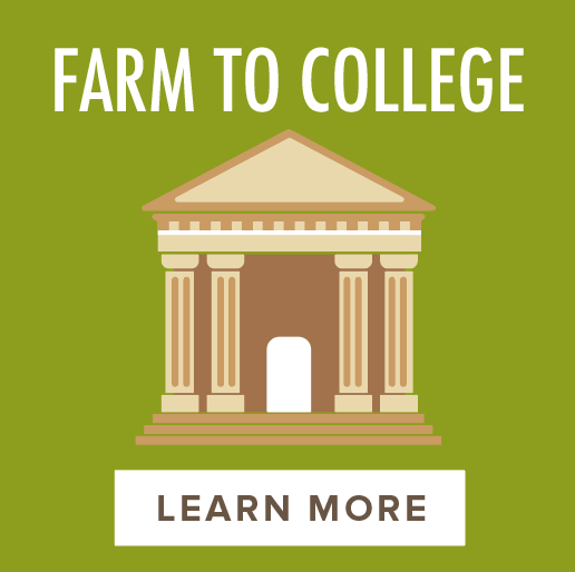 Farm to College - 200 colleges and universities with dining services87 million meals served*21.5% of total food budget spent on local food*