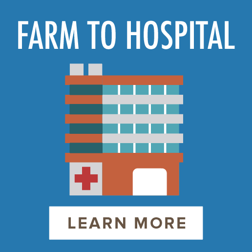 Farm to Hospital - 256 hospitals152 facilities active in the Health Care Without Harm network15% of total food budget spent on local food*