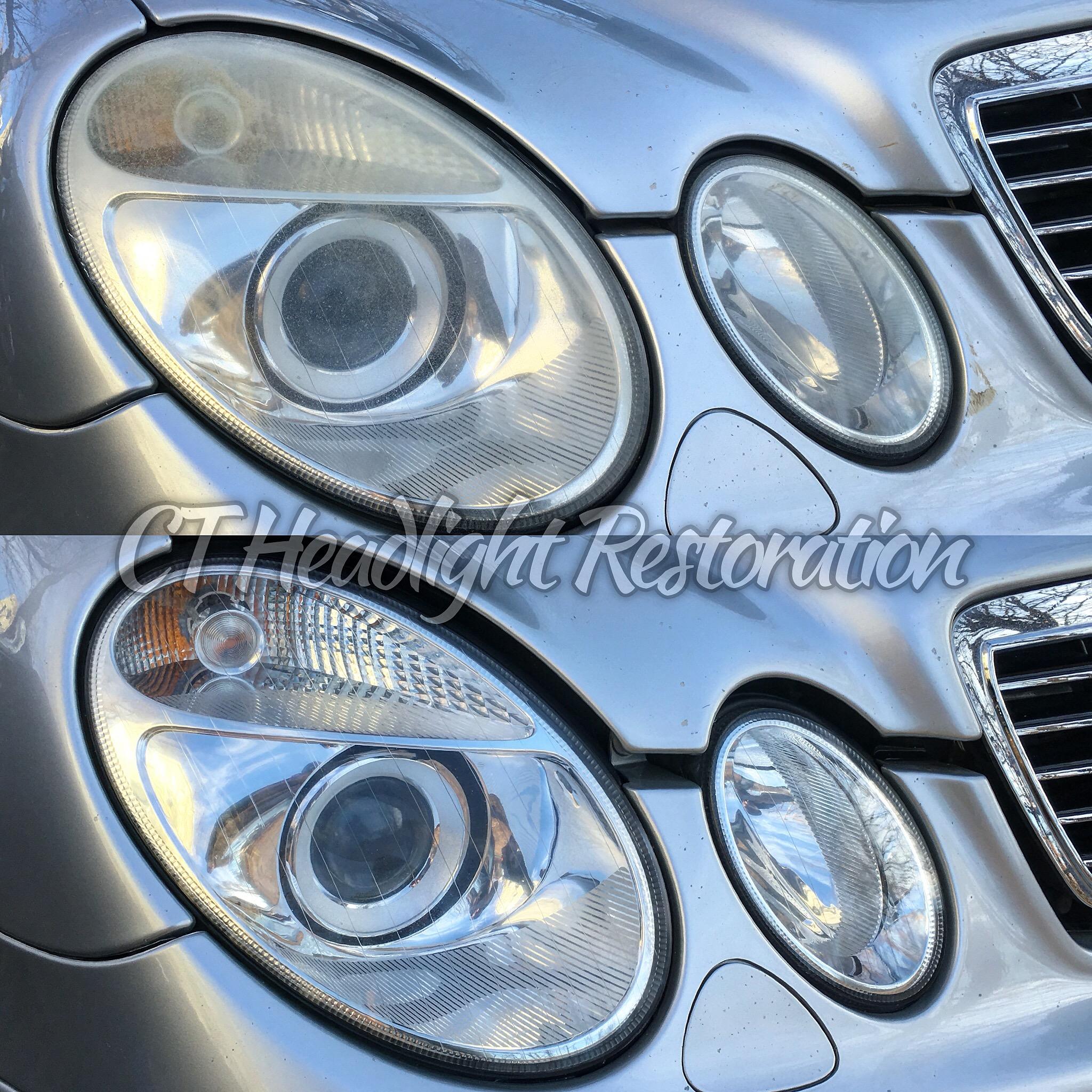 CT Headlight Restoration Mercedes E55 AMG.JPG
