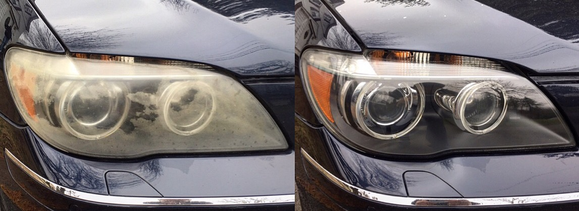 BMW 750i Headlight Restoration Service