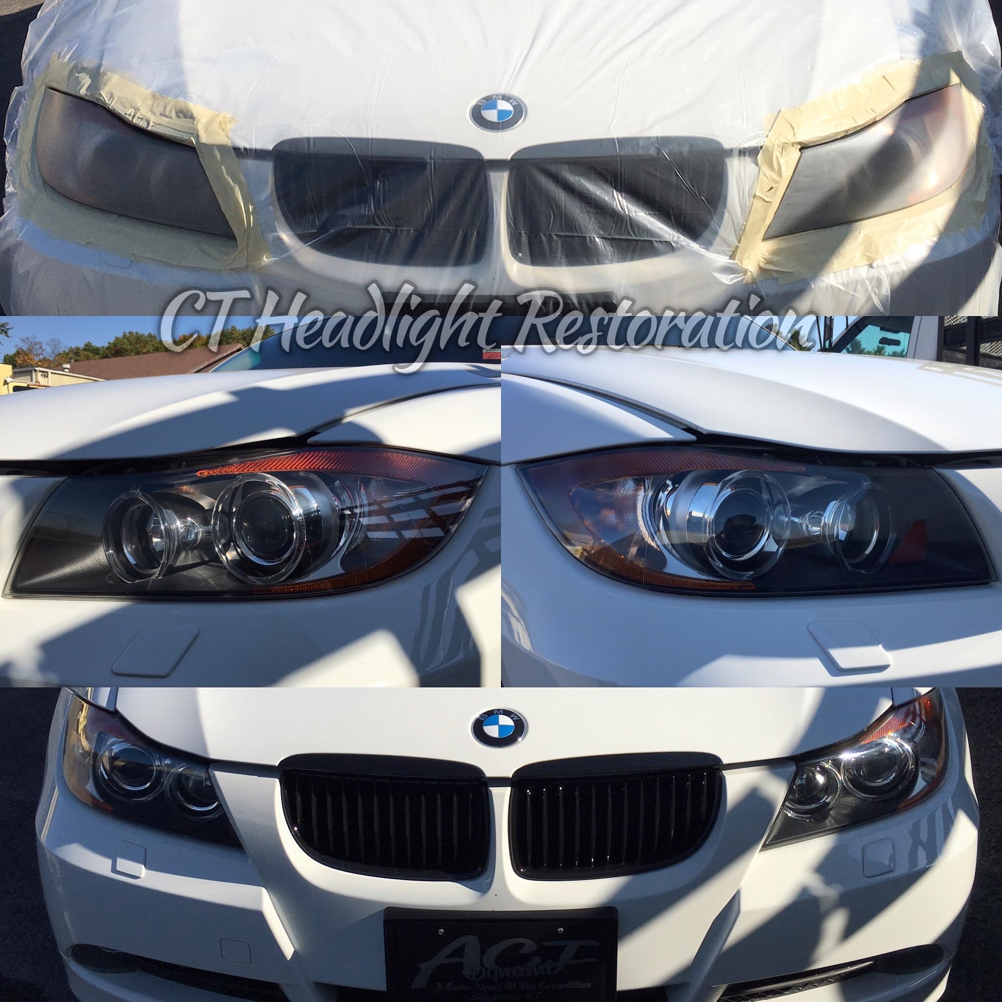BMW 335 Connecticut Headlight Restoration.jpg