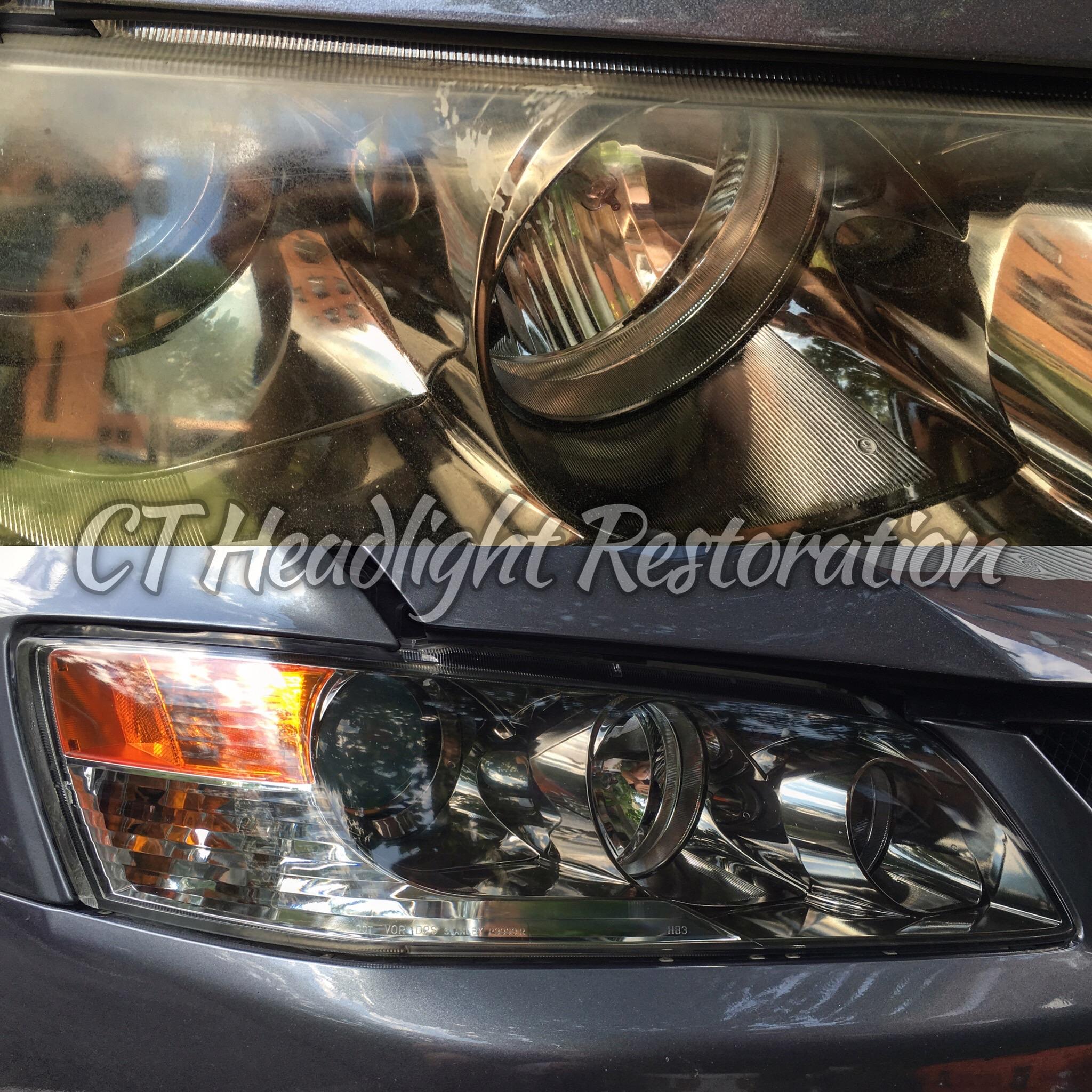 Mitsubishi Evo CT Yellow Headlight Restoration.jpg
