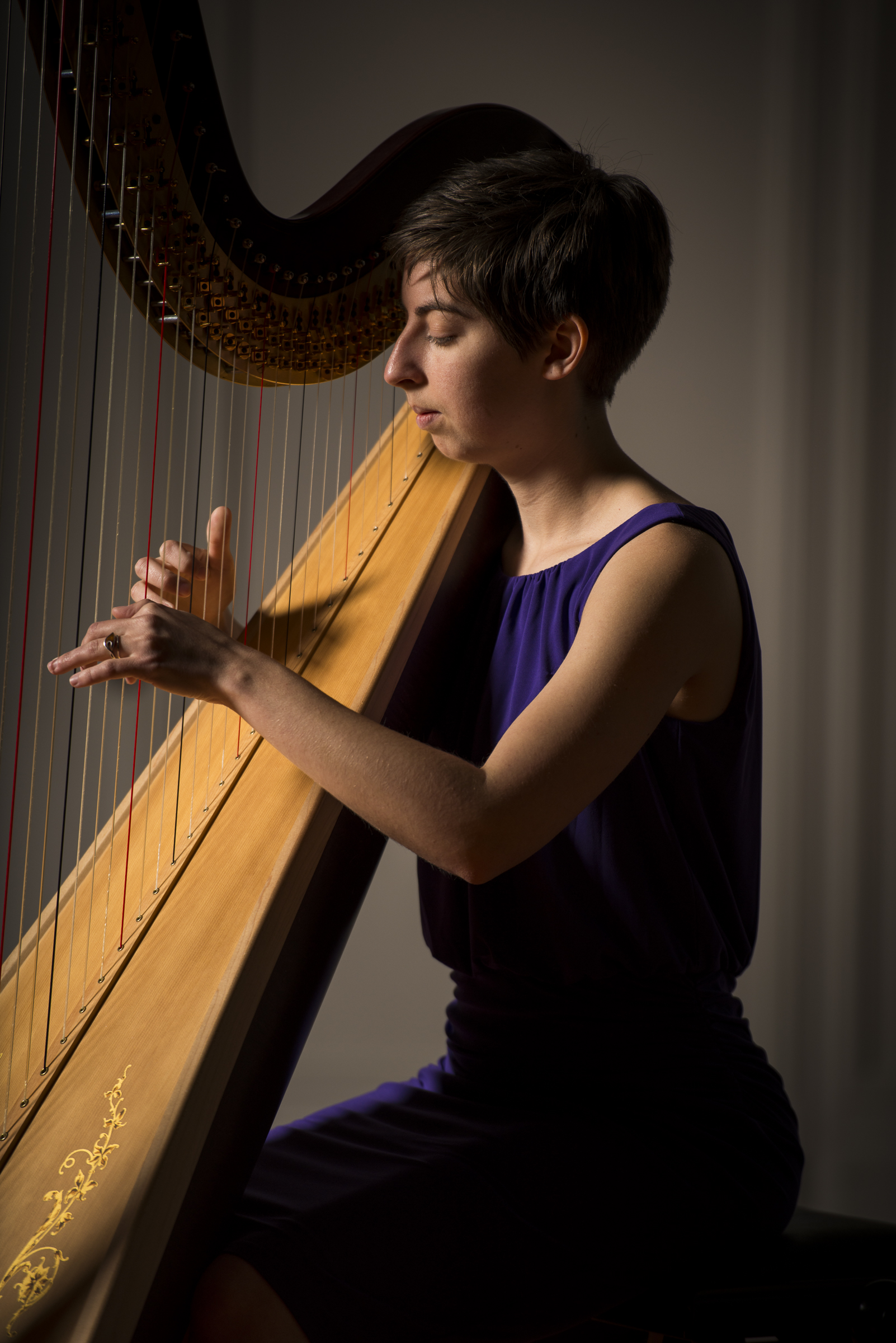 Lauren George, Charleston-based harpist; Photo by Adam Henderson