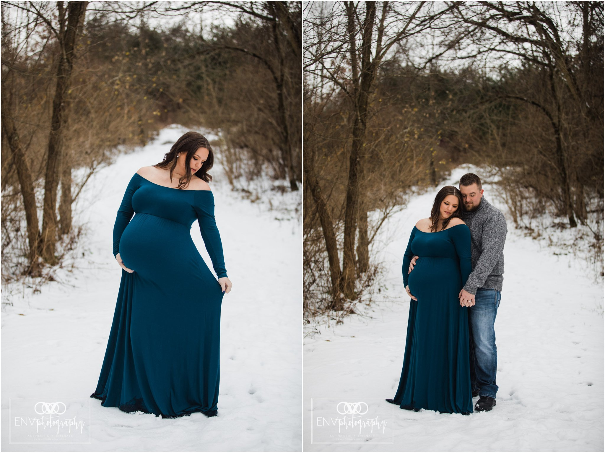 Columbus Ohio Mount Vernon Ohio Winter Waterfall Maternity Photography (1).jpg