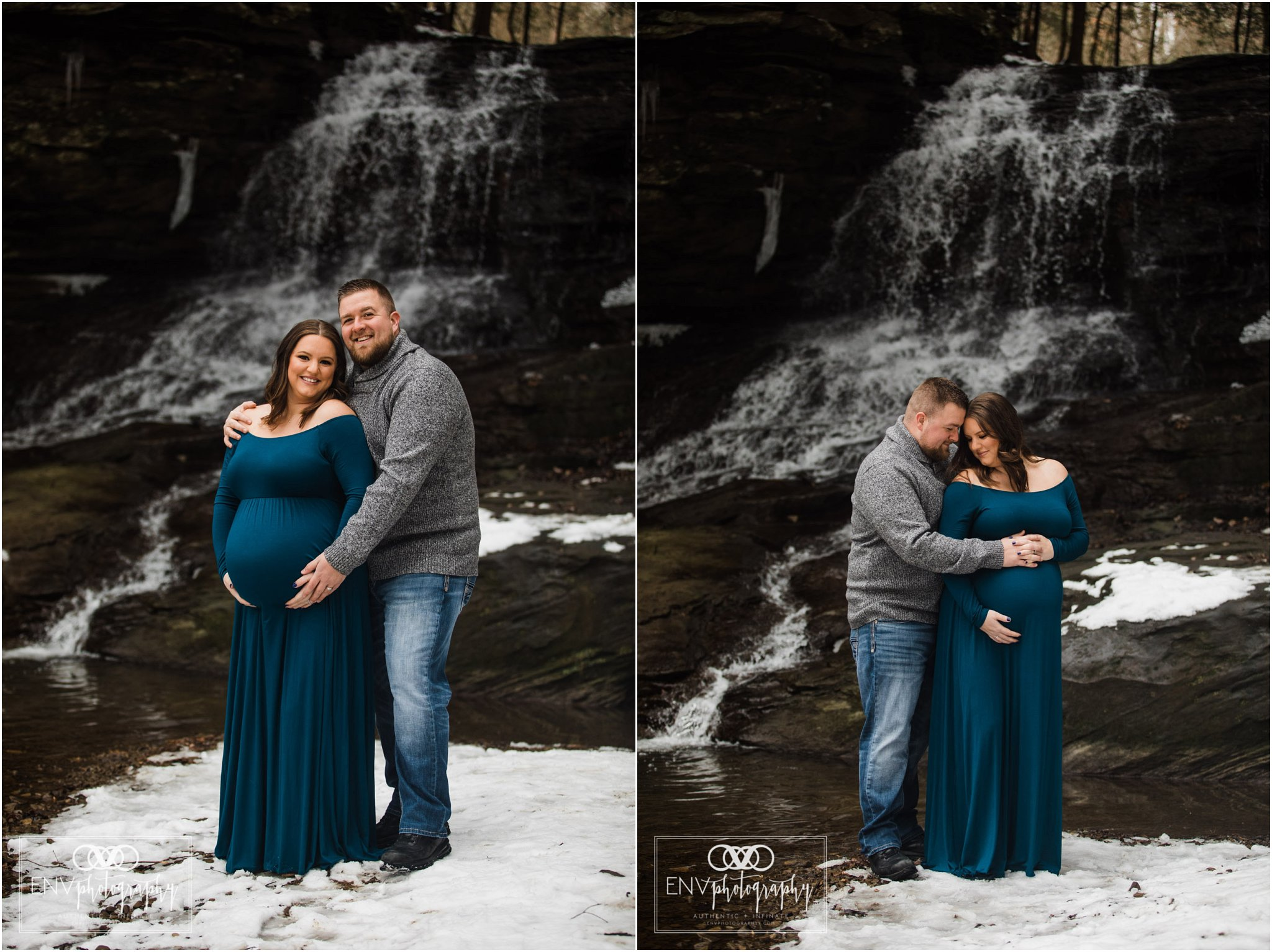 Columbus Ohio Mount Vernon Ohio Winter Waterfall Maternity Photography (4).jpg