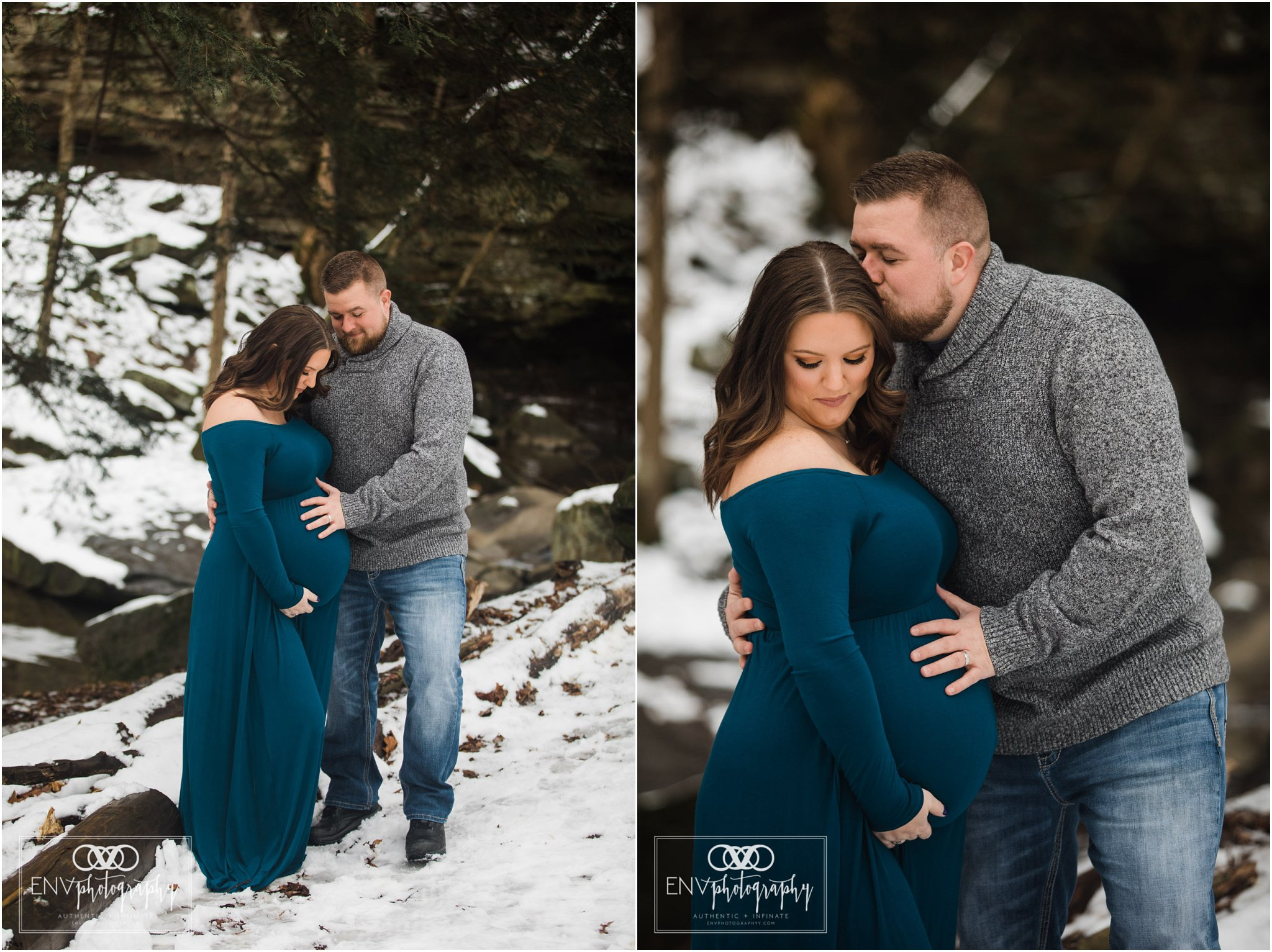 Columbus Ohio Mount Vernon Ohio Winter Waterfall Maternity Photography (5).jpg