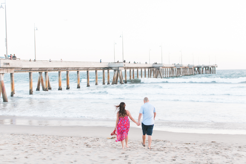 Venice Beach Engagement Session by Malibu Wedding Photographer Lovisa Photo.