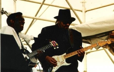 Guitar Legend Wayne Bennett and Keith Stone play the New Orleans Jazz Fest 1992