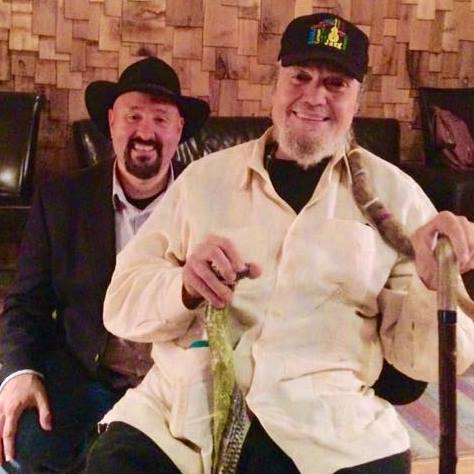 """Keith with 6 time Grammy winner Dr. John at The Music Shed recording """"Closer Walk with Thee""""."""