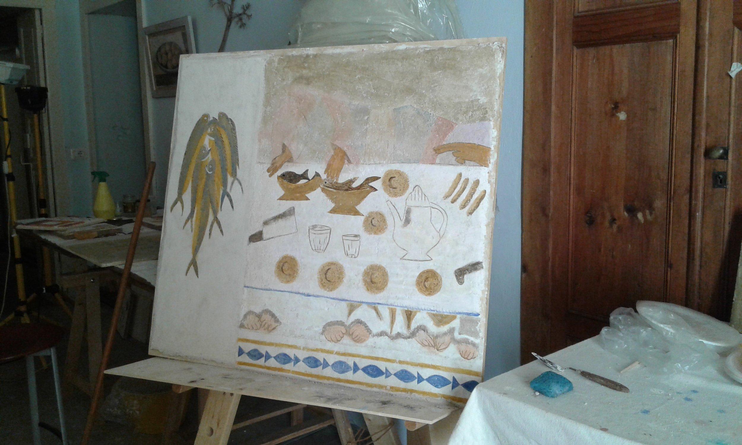 Egg Tempera Course Bosa Art School