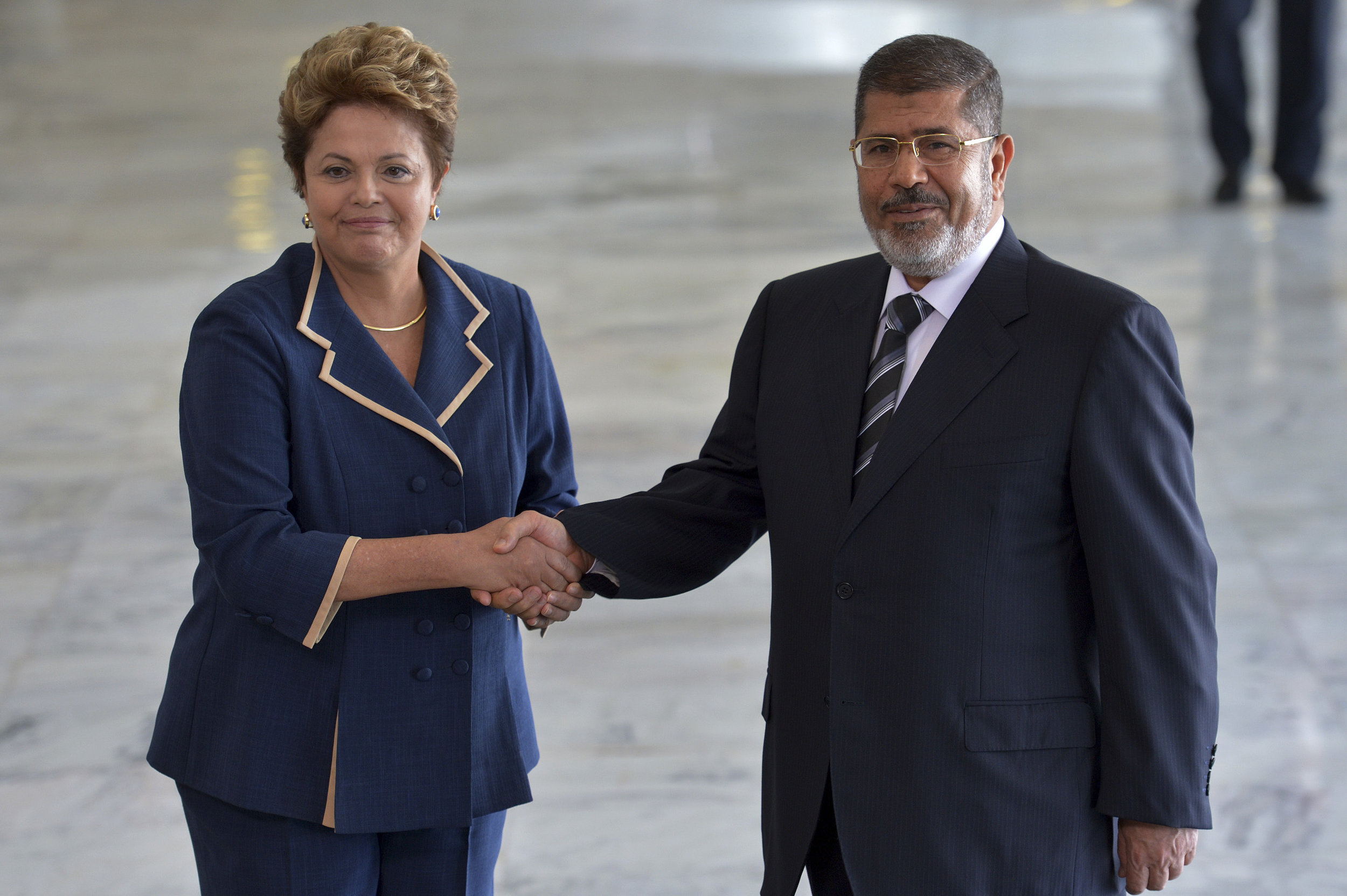 The late Mohamed Morsi, Egypt's fifth president, together with Brazil's former president Dilma Roussef. | Credit:  Agência Brasil