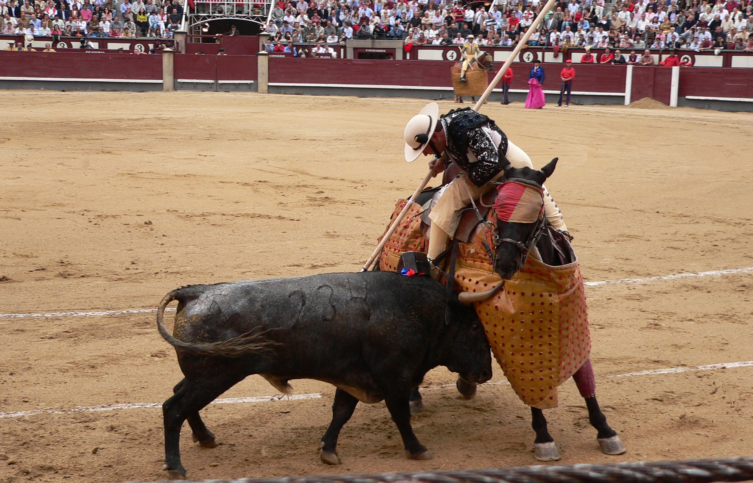 A picador equipped with a lance during a bullfight. | Credit:  Manuel González Olaechea