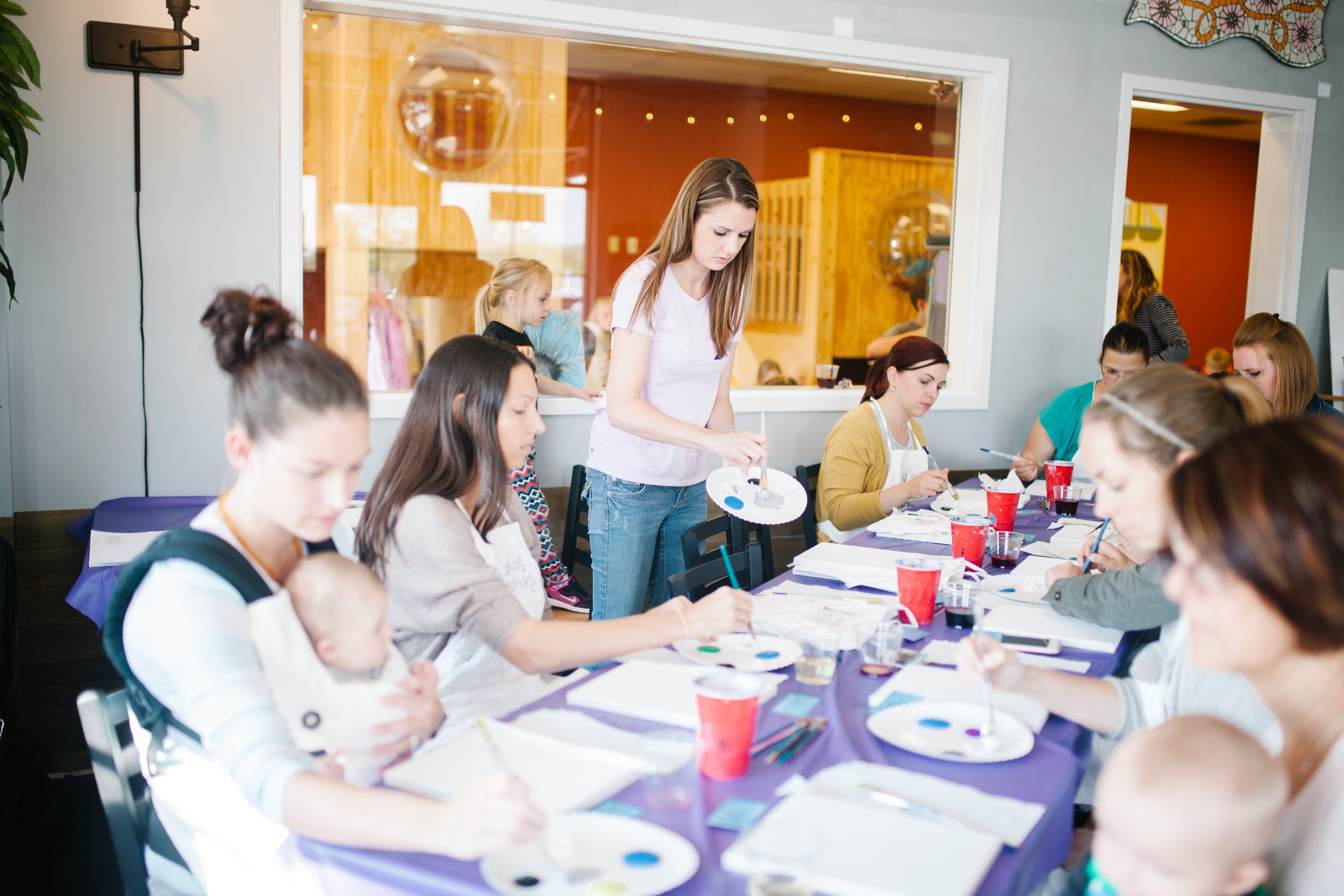 Canvas Creations For You at a 614 Mom event a few years ago