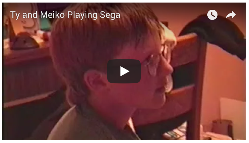 Ty and Meiko Playing Video Games