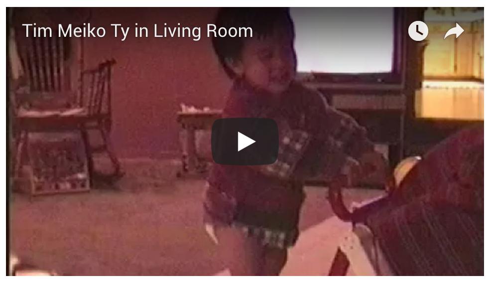 Ty, Tim, Meiko in Living Room