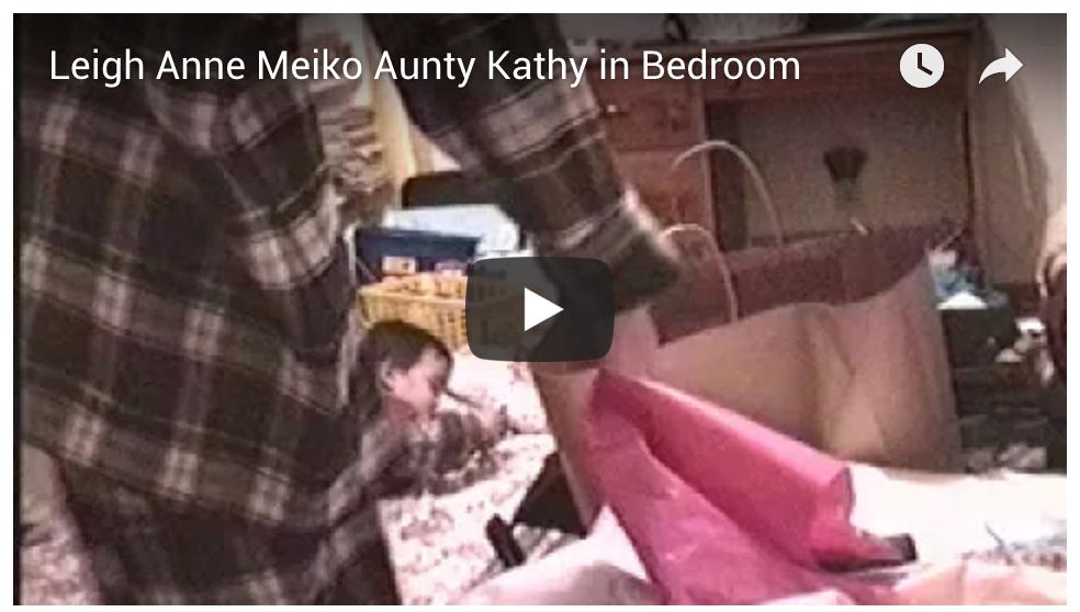 Leigh Anne, Aunty Kathy, Meiko in Bedroom