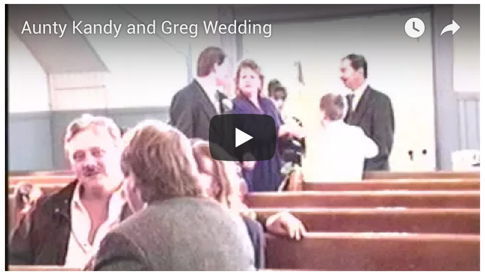 Aunty Kandy and Greg Wedding