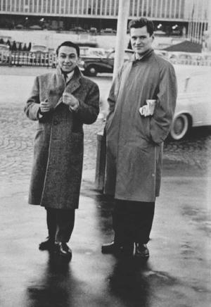 (Photo of Pierre Martory and John Ashbery © 1994, 2008 by John Ashbery)