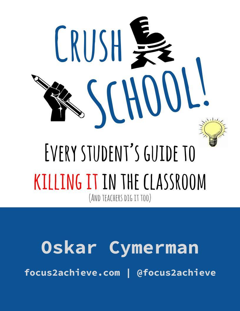 """""""Crush School"""" eBook by Oskar Cymerman - $9.99 on Amazon"""