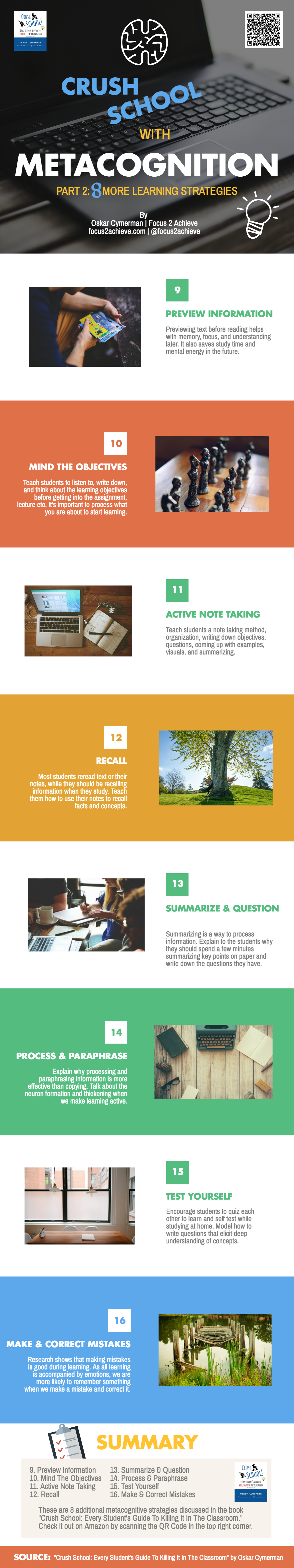 8 More Metacognitive Learning Strategies for School