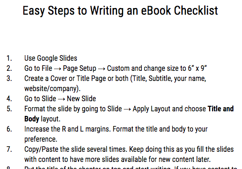 How to Write an ebook in 15 Easy Steps