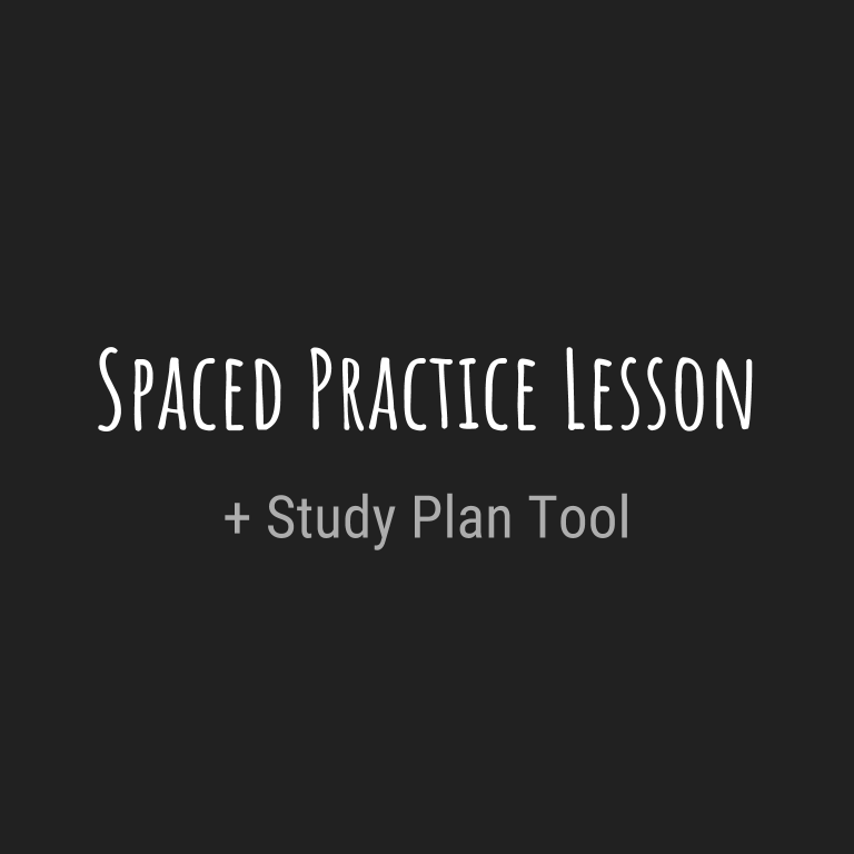 Spaced Practice Lesson & Planning Tool