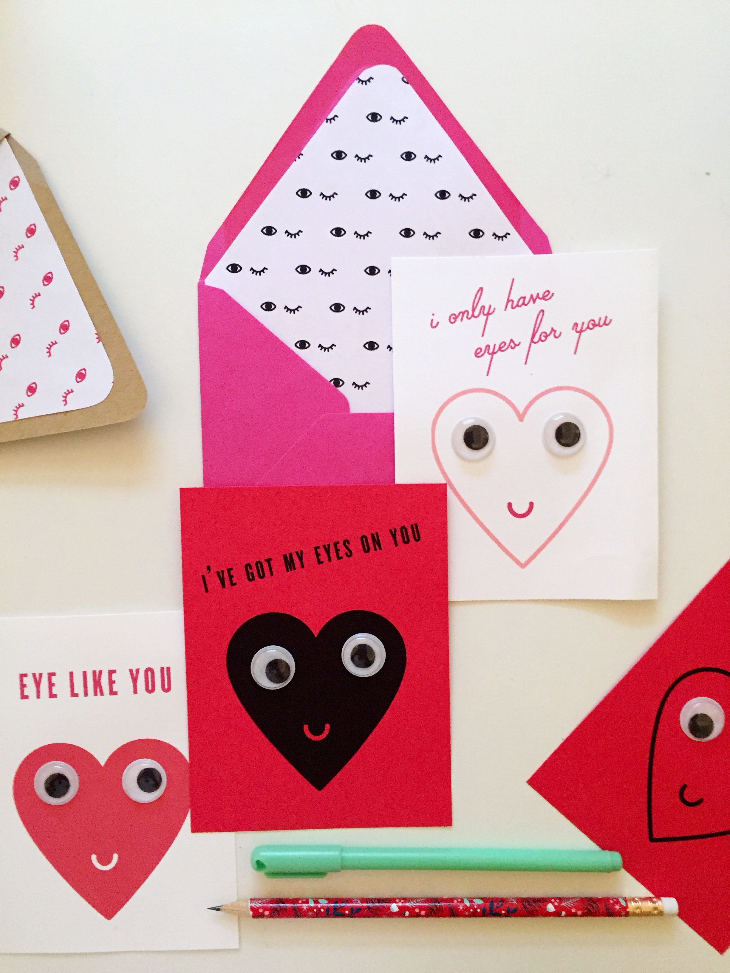 photograph about Printable Googly Eyes named Printable Googly Eyed Valentines Darling Studio Branding
