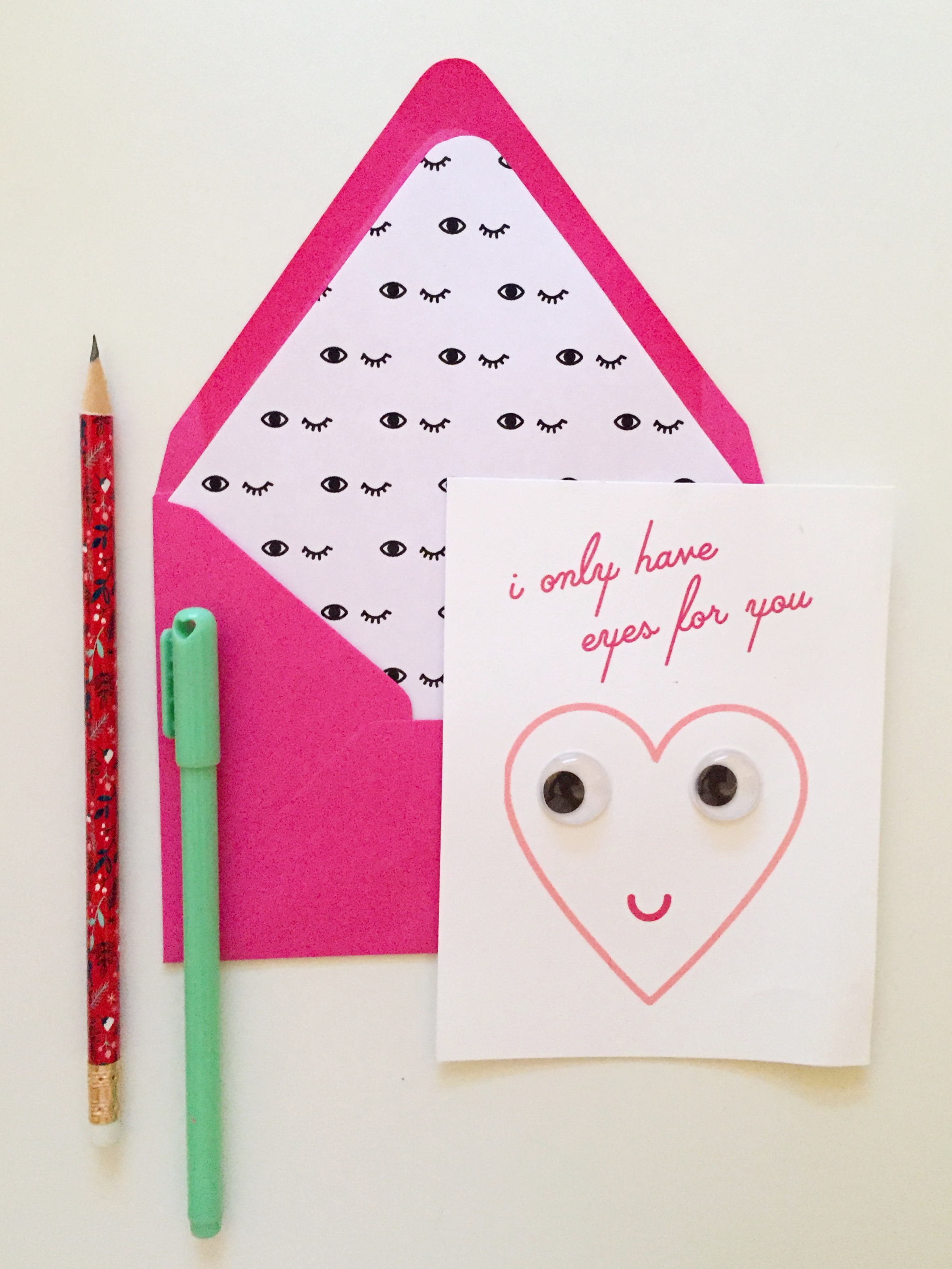 photograph relating to Printable Googly Eyes titled Printable Googly Eyed Valentines Darling Studio Branding