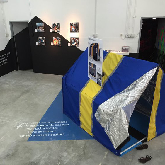 First impact    Interactive exhibition of bB's shelter innovations and impact in the first 15 months.