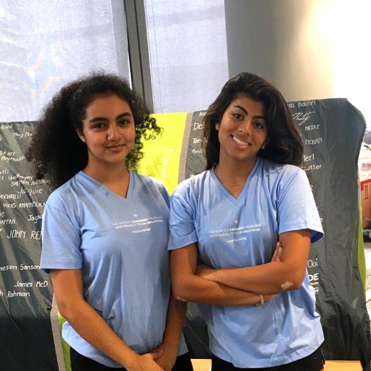 Alisha and Sanya fundraised for refugees in Bangladesh.