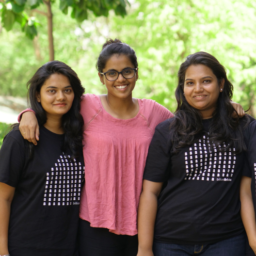 Ramya and her fellow students provided shelters to homeless families in their local community.