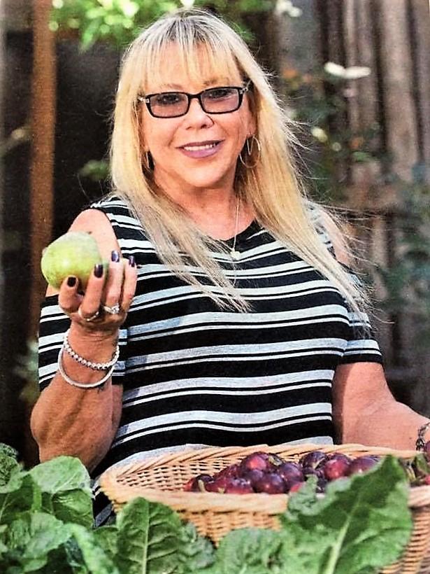 Samantha Cunningham in the DIVRS vegetable garden.  PICTURE: Kylie Else