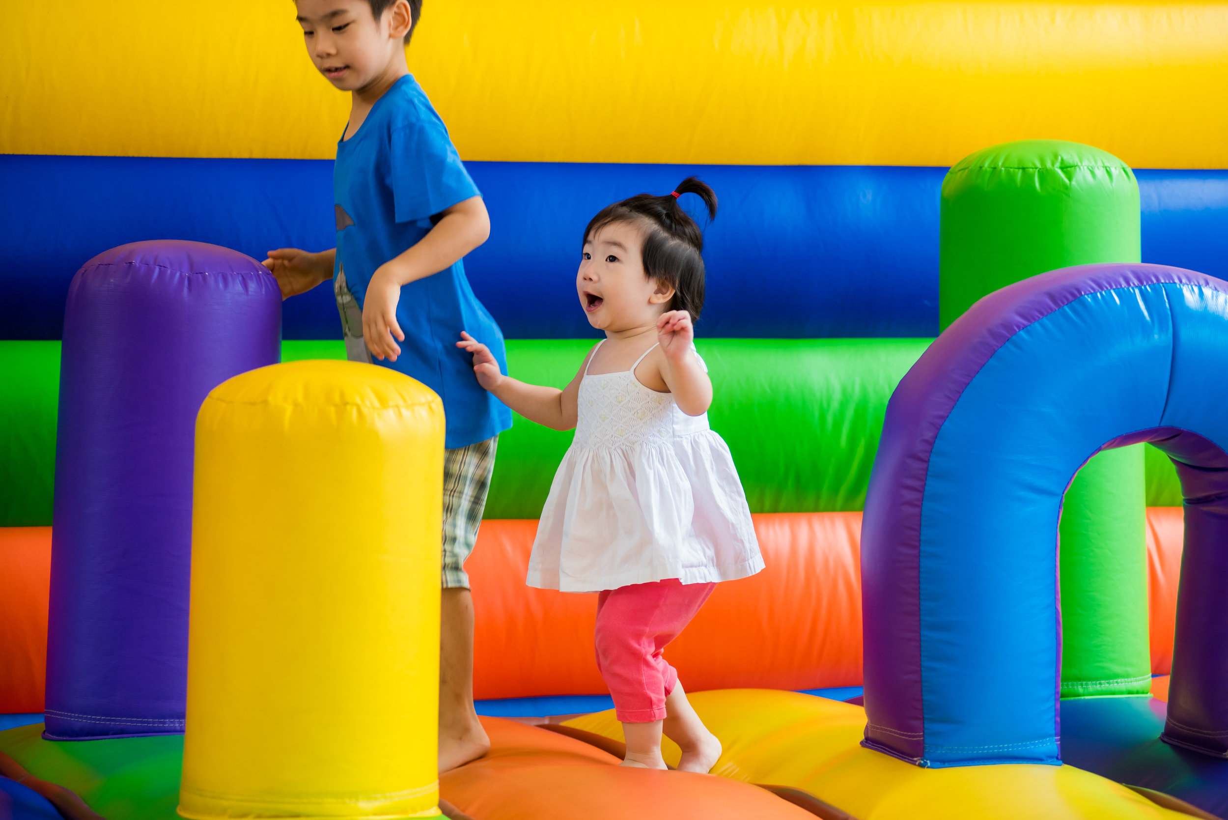 Our bouncy castle available from 3pm – 7pm on weekdays & 9am – 8pm on weekends (weather permitting).