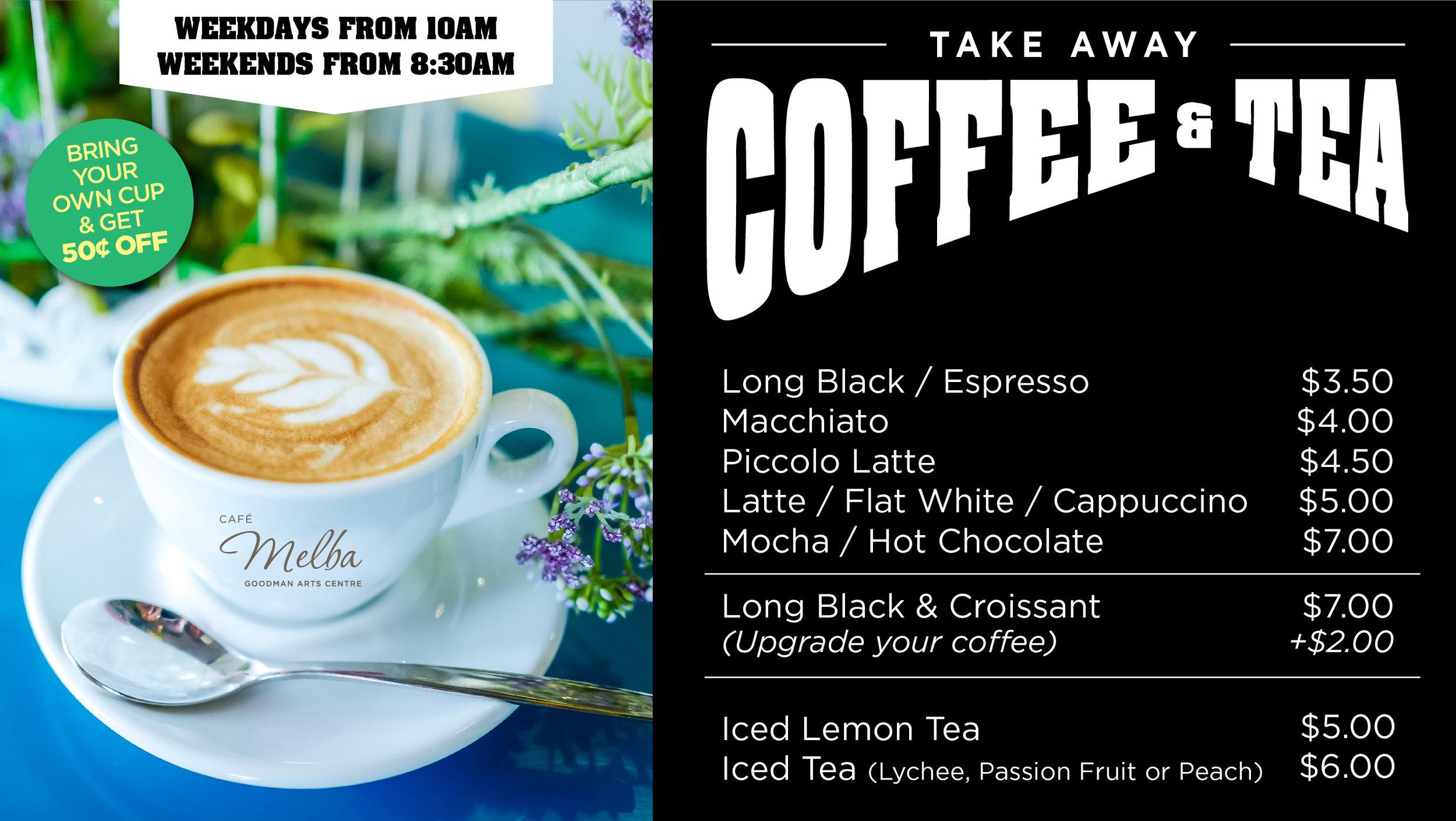 Takeaway Coffee and Tea