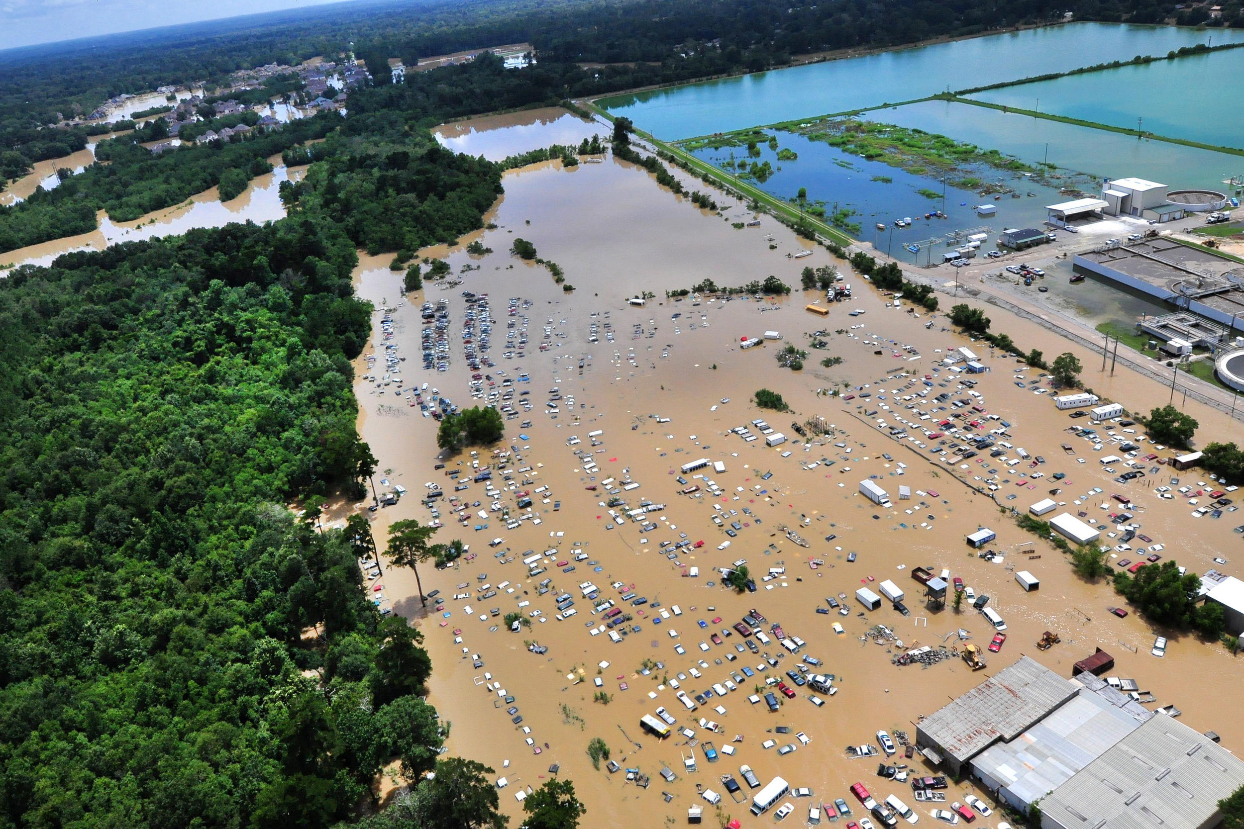 Because of the floods that ravaged South Louisiana in the summer of 2016, canceling an LSU home football date in order to reschedule the Florida game would have hit the Baton Rouge economy hard. (U.S. Coast Guard)
