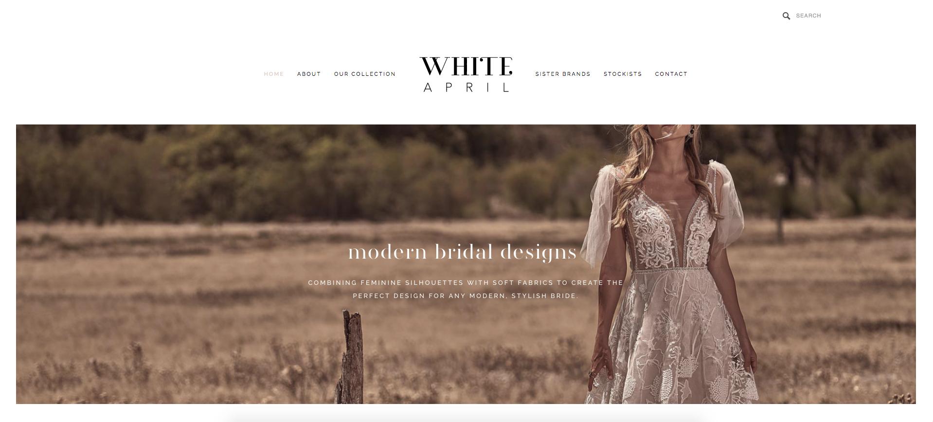 WHITE APRIL  - BRIDAL WEBSITE