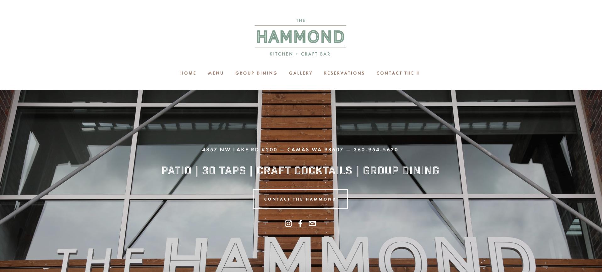 THE HAMMOND - U.S. RESTAURANT WEBSITE