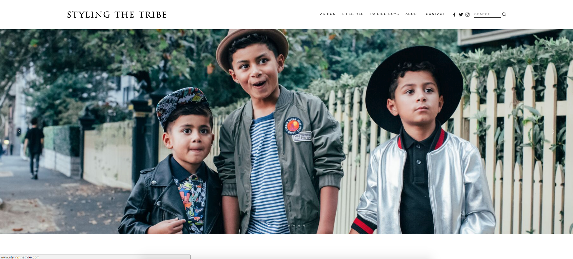 STYLING THE TRIBE - FASHION BLOG WEBSITE