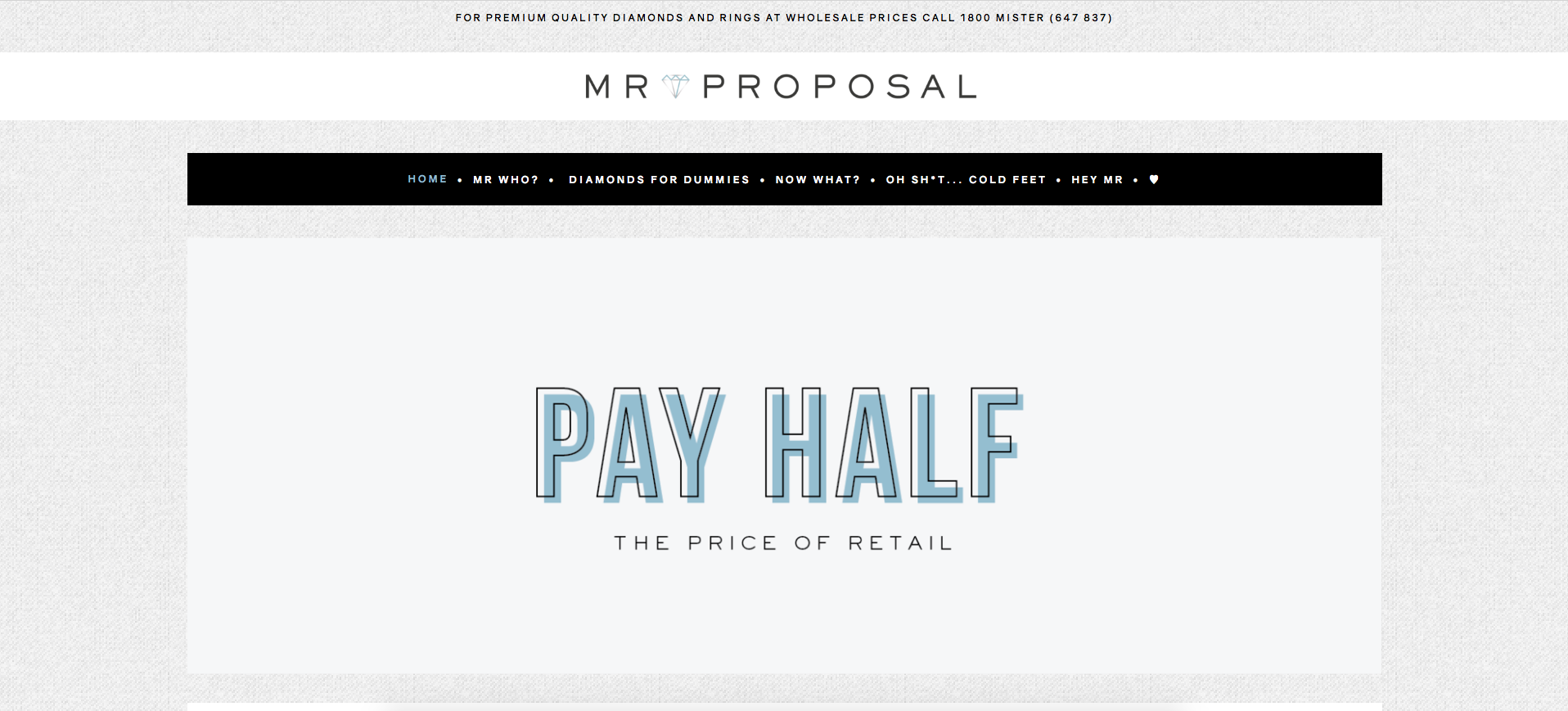 MR PROPOSAL - JEWELRY WEBSITE