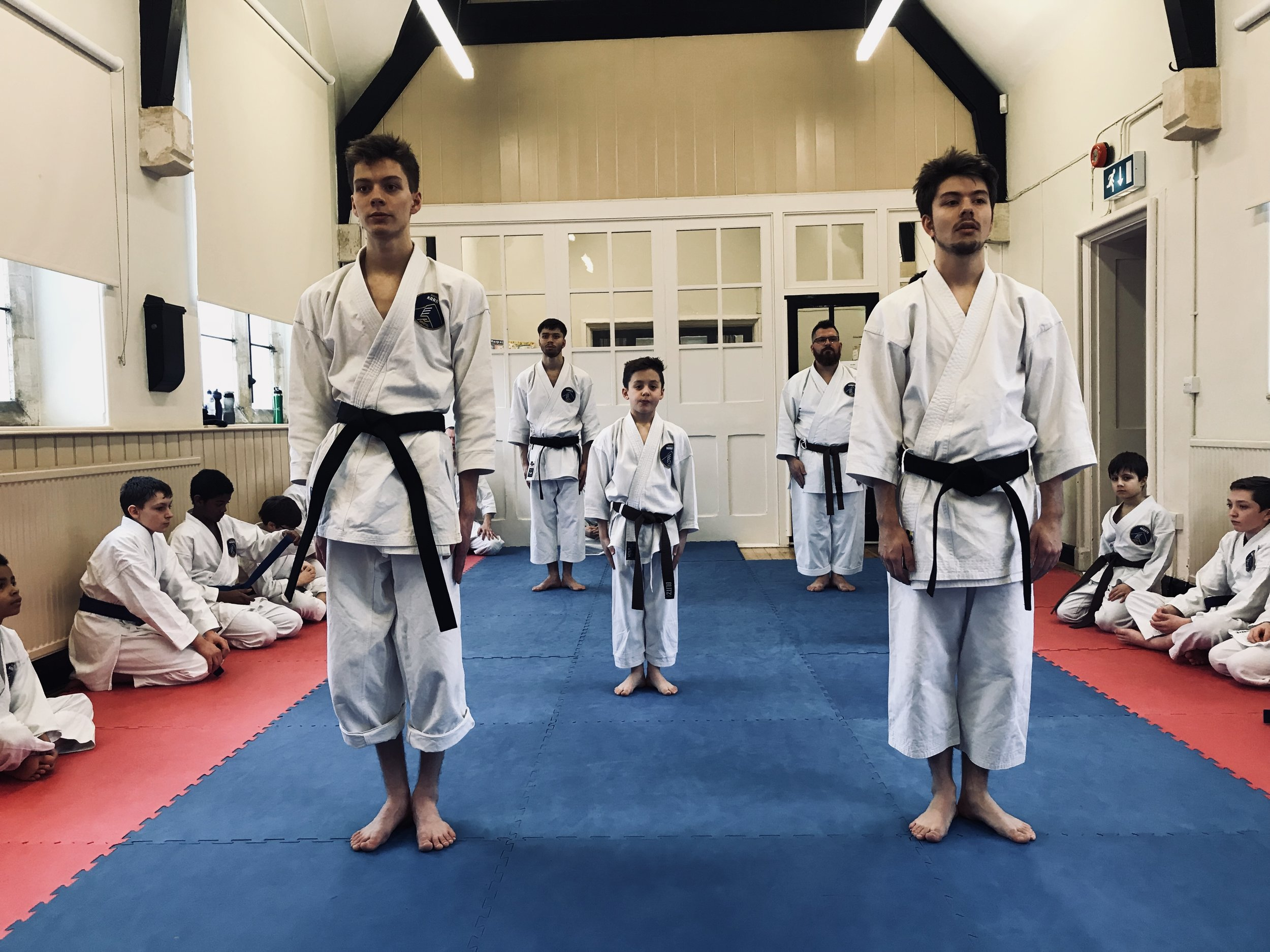 We have many instructors from many different backgrounds including boxing and kung fu. Senseis Laurence Daniel and Isaac Daniel lead the kata practice at our Manor Hall dojo in Coalpit Heath, Bristol.