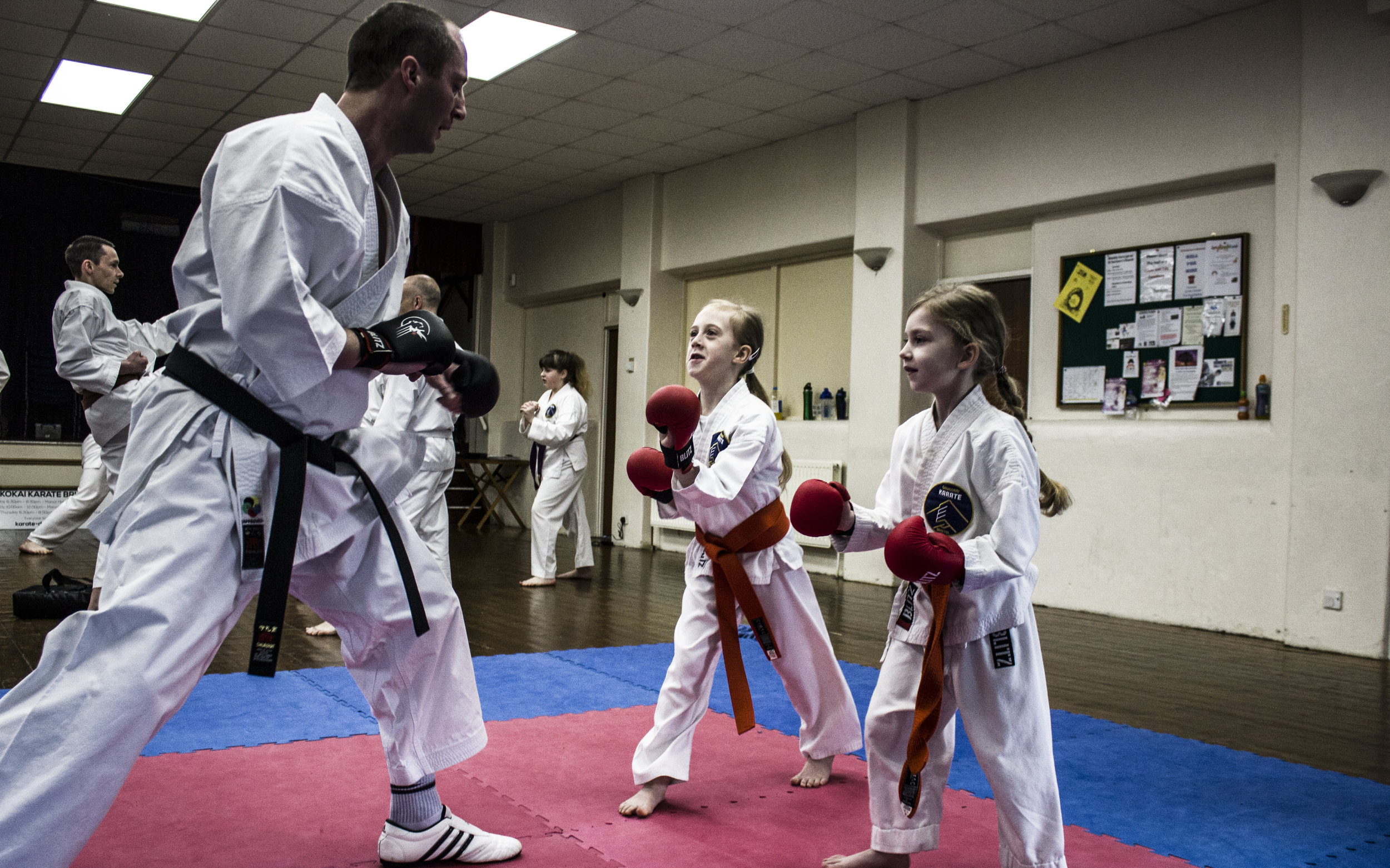 Sensei Jozef Margetin 2nd Dan (Former Slovakian kata and kumite Champion) coaches our young students in kumite