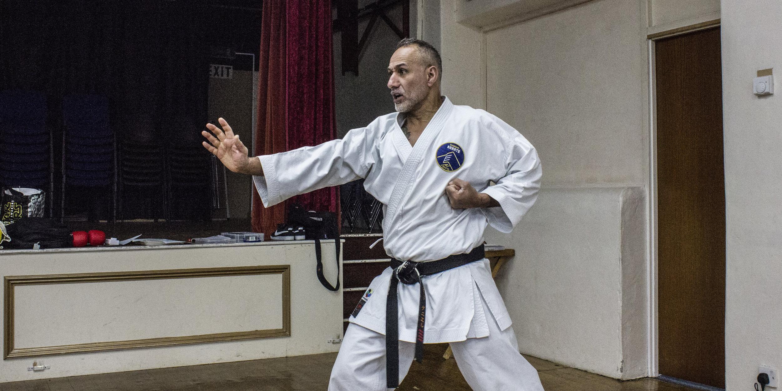 David Judah Daniel performing attack drills