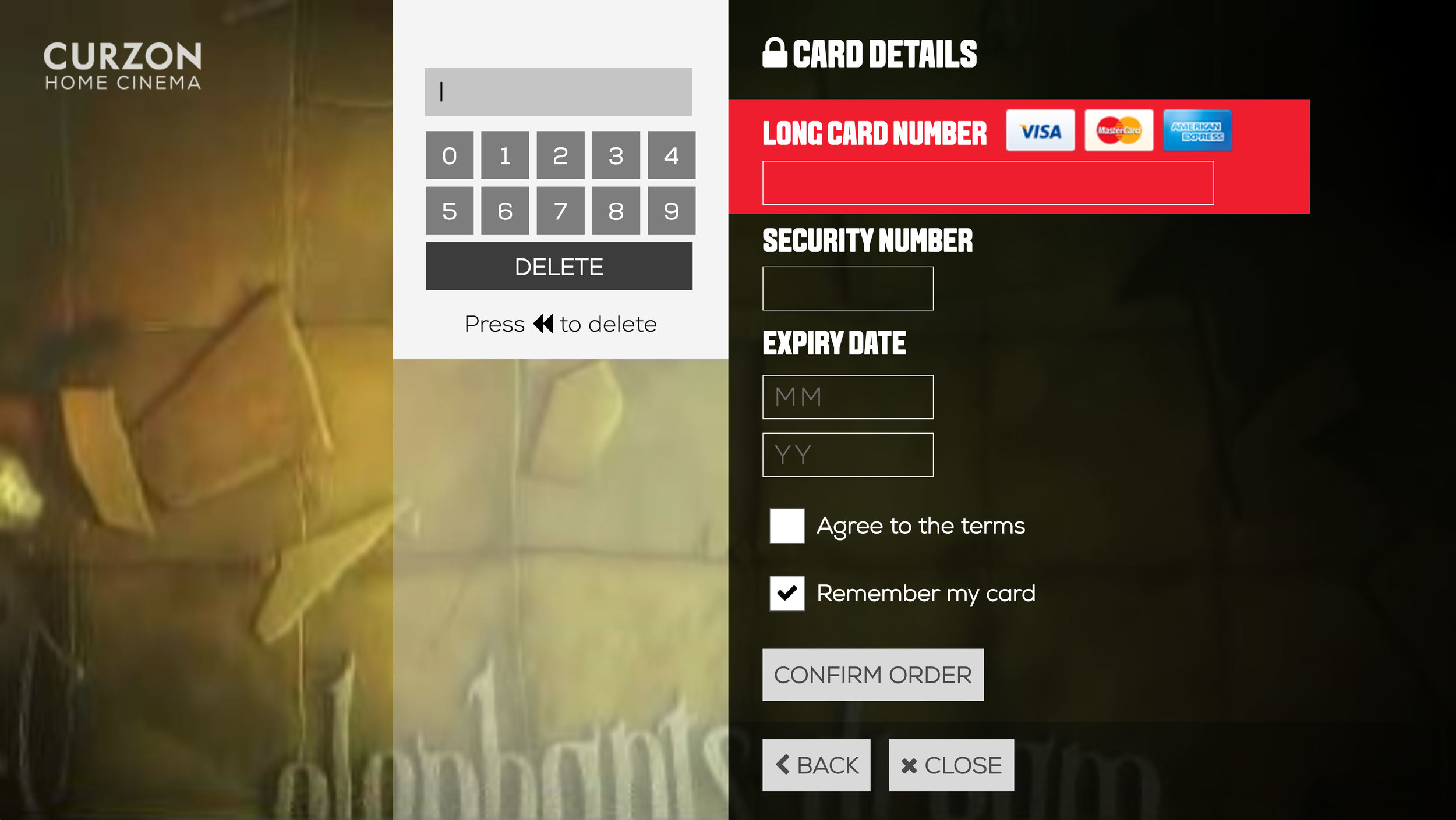 3. Enter all your card details