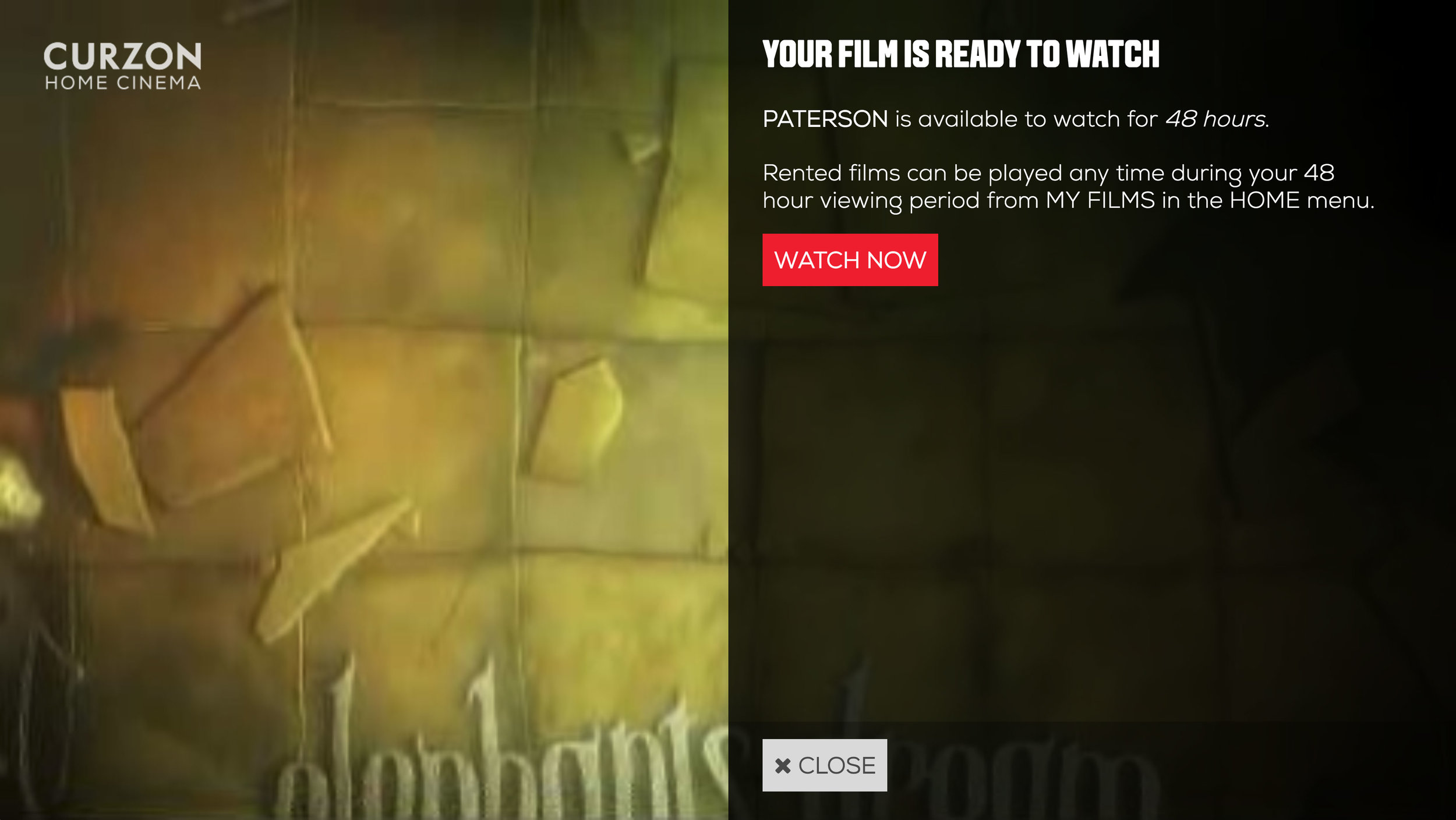 7. Select 'Watch Now' and enjoy your film!