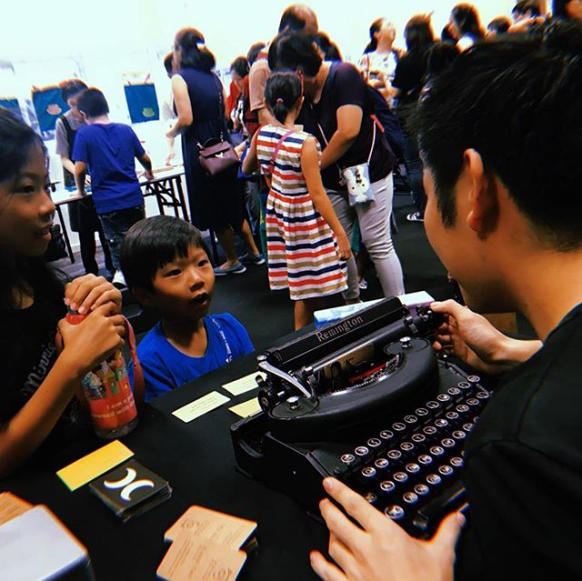 Thanks for having me @dreamseedsfest it was a joy writing for the kids and non-kids at such a meaningful event!  Photos by the ever supportive @twinklebelly 💙 . #haiku #haikufever #poem #poetry #dreamseedsfest #sgevent #artevents